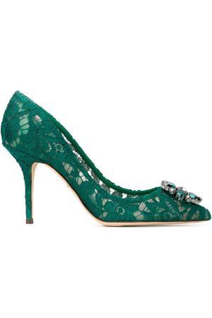 Dolce & Gabbana Zapatillas Belluci de encaje con detalles