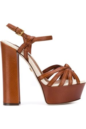 Dolce & Gabbana Sandalias con tiras cruzadas y plataforma