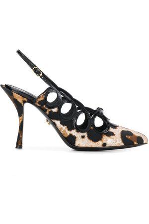 Dolce & Gabbana Mules con estampado de leopardo y tira trasera