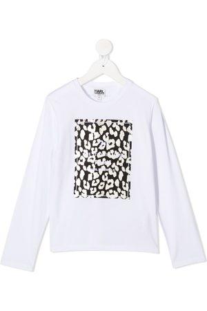 Karl Lagerfeld Top con motivo de leopardo