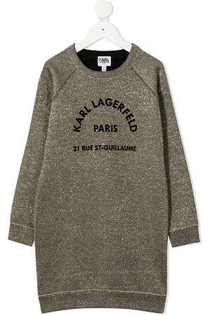 Karl Lagerfeld Vestido estilo sudadera con logo bordado