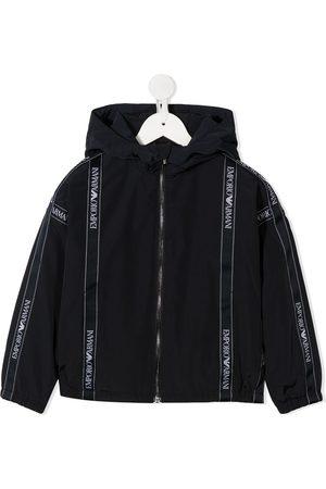 Emporio Armani Bomber - Logo band hooded jacket