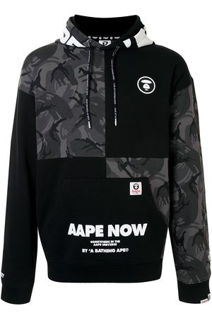 AAPE BY *A BATHING APE® Sudadera con capucha y diseño patchwork