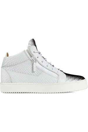 Giuseppe Zanotti Kriss snakeskin-effect mid-top sneakers
