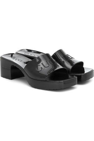 Gucci Logo rubber sandals