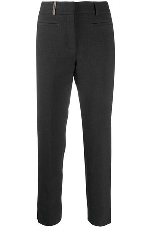 PESERICO SIGN High-waisted slim-fit trousers