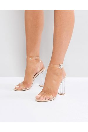 Public Desire Alia Perspex Heeled Sandals