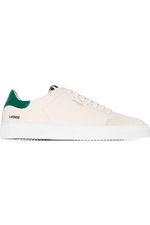 Axel Arigato White and green clean 90 leopard print heel sneakers