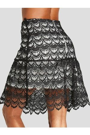 YOINS Lace Double Layer Skirt