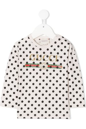 Gucci Logo-print polka dot T-shirt