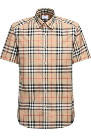 "Burberry Camisa ""caxton"" De Popelina De Algodón"