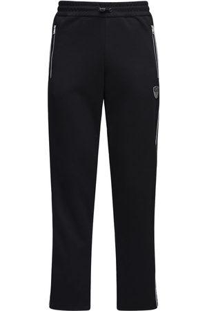 EA7 Pantalones Deportivos De Mezcla De Algodón