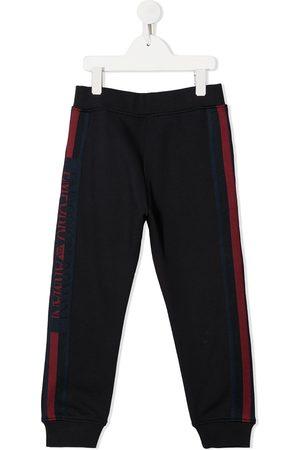 Emporio Armani Pants con rayas y logo