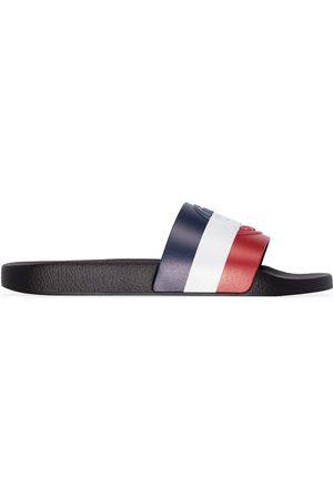 Moncler Black Basile stripe sandals