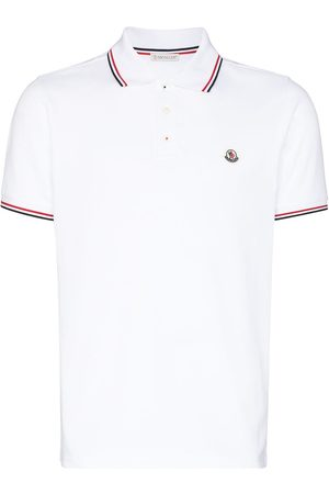 Moncler Playera tipo polo con parche del logo