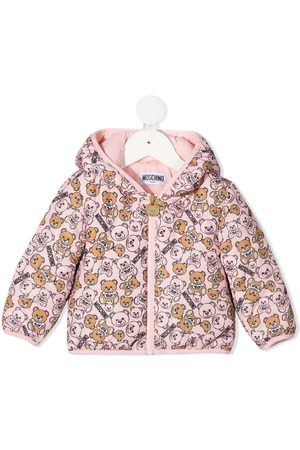 Moschino All-over teddy print padded jacket