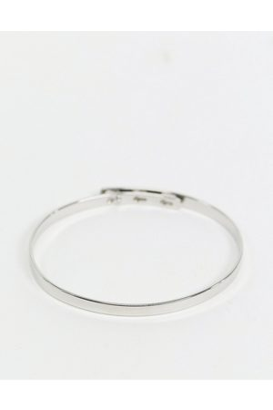 ASOS Bangle bracelet in minimal design in silver tone