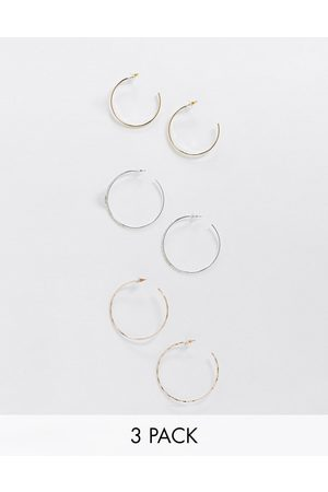 River Island 3 hoop earring pack in rose gold