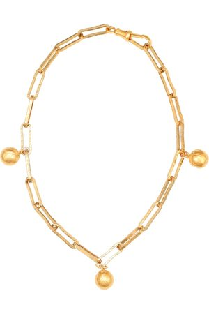 Alighieri The Anchor in the Storm 24kt gold-plated necklace