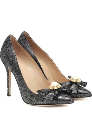 Alessandra Rich Mujer Pumps - Embellished metallic pumps