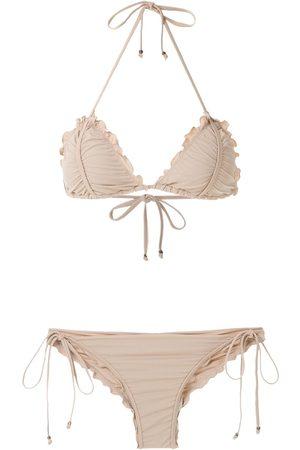 Amir Slama Mujer Bikinis - Bikini con ribetes festoneados