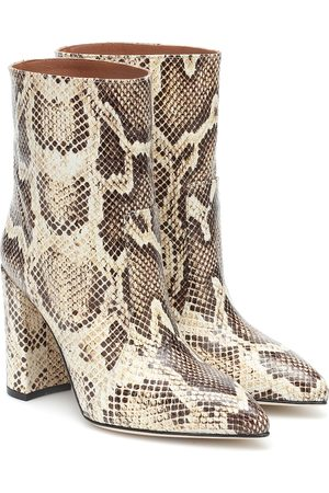 PARIS TEXAS Mujer Botines - Snake-effect leather ankle boots