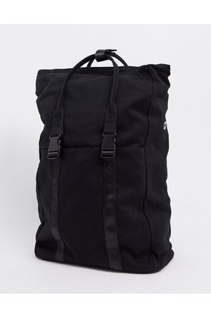 ASOS Canvas backpack with laptop compartment in black