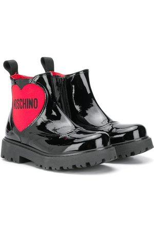 Moschino Niña Botas y Botines - Botas de lluvia con logo de corazón