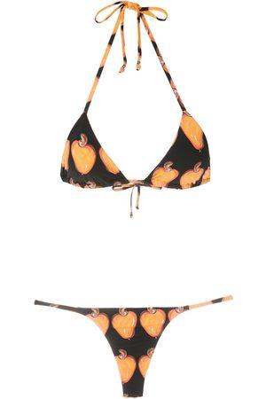 AMIR SLAMA Bikini estilo triángulo estampado