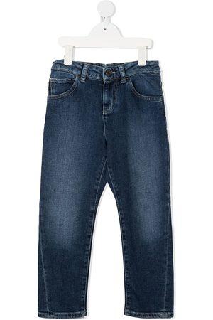 Emporio Armani Stonewashed straight-leg jeans