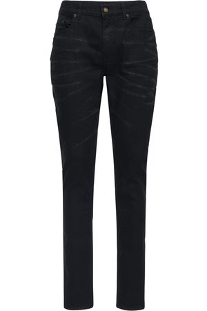 Saint Laurent Jeans Skinny De Denim De Algodón Stretch 16cm