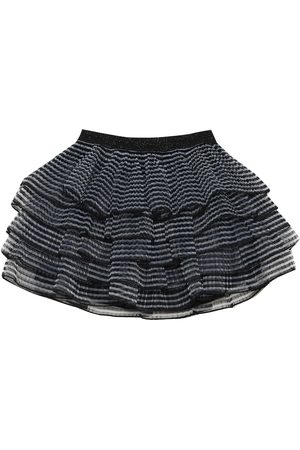 The Marc Jacobs Striped pleated voile skirt