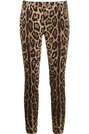 Dolce & Gabbana Jeans capri con estampado de leopardo