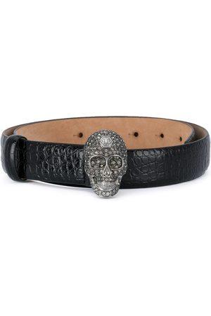 Philipp Plein Cinturón con hebilla Skull y cristales