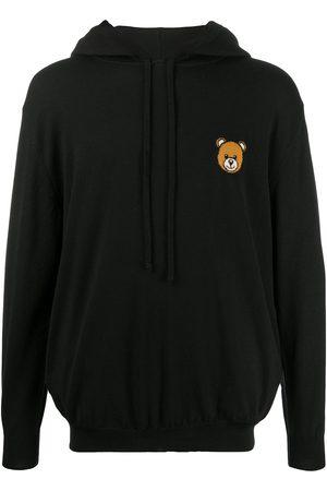 Moschino Hombre Con capucha - Sudadera tejida con motivo Teddy Bear