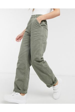 ASOS Slouchy chino trouser in khaki