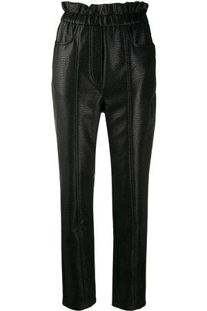 Serafini Pantalones slim de piel artificial