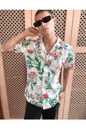 Tommy Hilfiger Allover floral print camp short sleeve shirt in