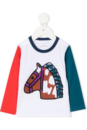 Stella McCartney Playera con diseño colour block
