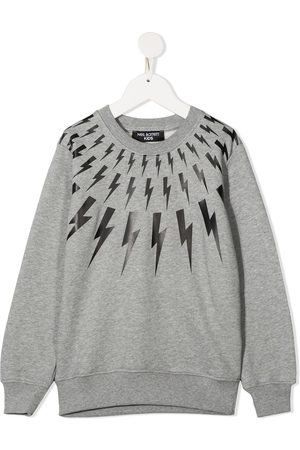Neil Barrett Con capucha - Lightening print cotton sweatshirt
