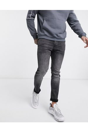 Jack & Jones Intelligence Glenn slim tapered fit jeans in black wash