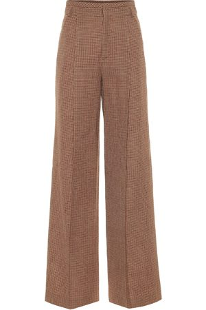 Chloé Checked wool flared pants