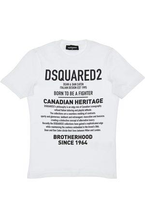 Dsquared2 Camiseta De Algodón Jersey Con Estampado