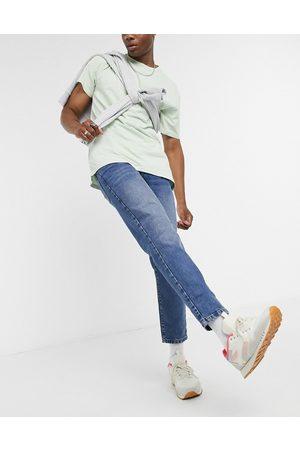 ASOS Classic rigid jeans in vintage mid wash blue