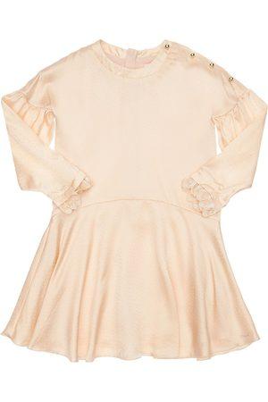 Chloé Vestido De Fiesta Satén De Seda Con Decoraciones