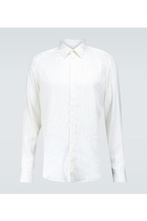 Lanvin Long-sleeved pinstriped silk shirt