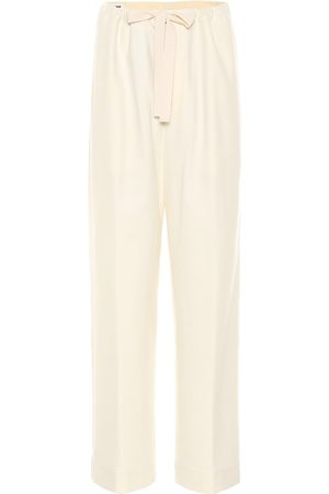 Jil Sander Twill wool-blend wide-leg pants