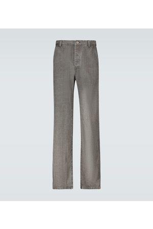 Nanushka Bil linen denim-look pants