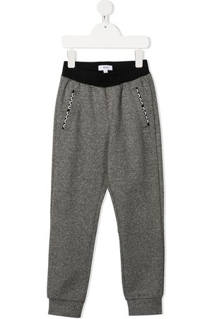 Boss Kids Pantalones - Pants con logo bordado