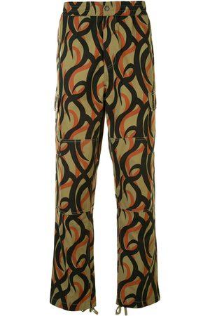 Ports V Pantalones rectos con estampado abstracto